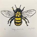 Vicky Oldfield, Hairy Footed Bee, Screen print, Contemporary art, bee picture,  jpeg-f9a761a3
