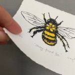Vicky Oldfield, Hairy Footed Bee, Screen print, Contemporary art, bee picture, p, jpeg-7b287c47