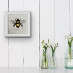 Vicky Oldfield, Hairy footed Bee, in situ, Screen print, Contemporary art-e4813111