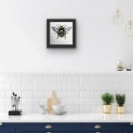 Vicky Oldfield, Honey Bee, Screen print, Contemporary art, bee picture in situ 2 , jpeg-a2d2bd39