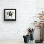 Vicky Oldfield, Honey Bee, Screen print, Contemporary art, bee picture in situ 3 , jpeg-69c90479