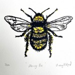 Vicky Oldfield, Honey Bee, Screen print, Contemporary art, bee picture , jpeg-b37262bb
