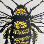 Vicky Oldfield, Honey Bee, Wychwood Art, Screen print, Contemporary art, bee picture, c1, jpeg-a6054425