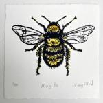 Vicky Oldfield, Honey Bee, Wychwood Art, Screen print, Contemporary art, bee picture, w,  jpeg-8c940822