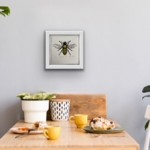 Vicky Oldfield, Leaf Cutter Bee, Screen print, Contemporary art, bee picture. in situ2 jpg-121feccd