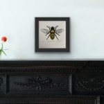 Vicky Oldfield, Leaf Cutter Bee, Screen print, Contemporary art, bee picture. in situ3, jpg-aa1c4905