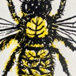 Vicky Oldfield, Leaf Cutter Bee, Wychwood Art, Screen print, Contemporary art, bee picture, d, jpeg-60a2ed0a