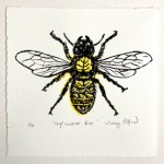 Vicky Oldfield, Leaf Cutter Bee, Wychwood Art, Screen print, Contemporary art, bee picture, w, jpeg-36160f1d