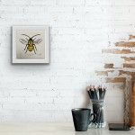 Vicky Oldfield, Long Horned Bee, Screen print, Contemporary art, bee picture. in situ b jpg-d04e529a