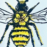 Vicky Oldfield, Long Horned Bee, Wychwood Art, Screen print, Contemporary art, bee picture. close, jpg-2fec2f59