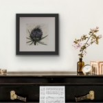 Vicky Oldfield, Teasel bloom, Hand coloured collagraph print, Contemporary art, in situ 1, jpeg-864dad1a