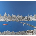 michael wallner_View From The Tate, brushed aluminium print, 137 x 84 cm, Edition of 25, £1350_white background_wychwood art-48540816