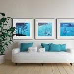 turquiose bay. gordon hunt. wychwood art. in a room setting-0c54eda0