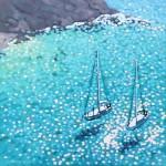 turquoise bay. Gordon Hunt. Wychwood art. limited edition full image-f7a003fc