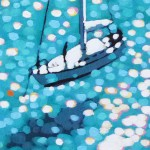 turquoise bay. gordon hunt. wychwood art. close up-2e52e4ed