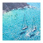 turquoise bay. gordon hunt. wychwood art. full print and border-baed35bb