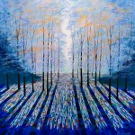 Amanda Horvath     Deep Blue Forest     Landscape Painting, Impressionist Art, Affordable Contemporary Painting-0d6126ce