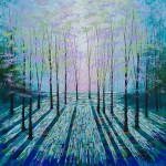 Amanda Horvath Light in the Shadows Landscape Painting, Impressionist Art, Affordable Contemporary Painting-e44de9d2