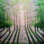 Amanda Horvath Summer Lights  Landscape Painting, Impressionist Art, Affordable Contemporary Painting-04b3b22f