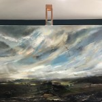 An Easterly Wind Across the Valley-easel view-Helen Howells-d7c302f0
