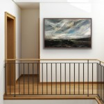 An Easterly Wind Across the Valley-in situ brown frame- Helen Howells-a9808934
