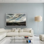 An Easterly Wind Across the Valley- in situ on white frame- Helen Howells-b7fe1dc7