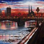 Battersea Bridge Oil 2014 51 x 76 cm (20 x 30 inch) Wychwood Art-6aa16826