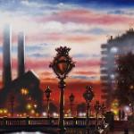 Battersea Bridge Oil 2014 detail 1 51 x 76 cm (20 x 30 inch) Wychwood Art-0b000cac