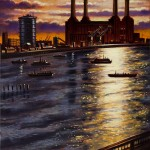 Battersea from Vauxhall Bridge Oil 2012 76 x 51 cm (30 x 20 inch) Wychwood Art-b96e6a2f