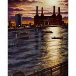 Battersea from Vauxhall Bridge Oil WB 2012 76 x 51 cm (30 x 20 inch) Wychwood Art-ab5040de