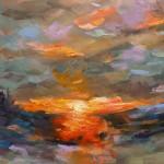 Charmaine Chaudry Fire Sky Wychwood Art Landscape-71dcd8bf