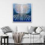 Deep Blue Wood Framed Image-0407294e