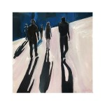 Eleanor Woolley | Street Shadows 4 | Landscape | Figurative | Expressionistic | White-c2f4a737