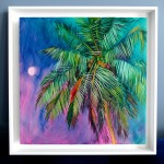 Half Moon Bay Alanna Eakin Oil Painting Palm Tree Colourful Framed Art in situ-0c6497d6