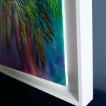 Half Moon Bay Alanna Eakin Oil Painting Palm Tree Colourful Framed Art side-65657271