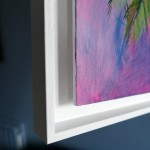 Half Moon Bay Alanna Eakin Oil Painting Palm Tree Colourful Framed Art side two-52ac3426