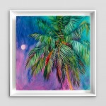 Half Moon Bay Alanna Eakin Oil Painting Palm Tree Colourful Framed Art white wall-7fb45fef