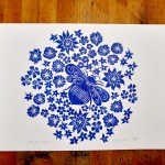 Jess Harrington Bee & Flowers 2 Wychwood Art-d10ff5e5
