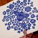 Jess Harrington Bee & Flowers Side Wychwood Art-30c265d2