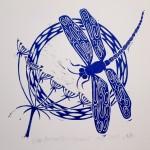 Jess Harrington Dragonfly & Hogweed Close Wychwood Art-4b78fe6e