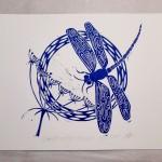 Jess Harrington Dragonfly & Hogweed White Wychwood Art-456f4b6e