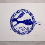 Jess Harrington Leaping Hare White Wychwood Art-cdf58cf5