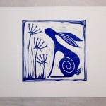 Jess Harrington Wild Blue Hare White Wychwood Art-0824182e