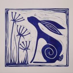 Jess Harrington Wild Blue Hare Wychwood Art-38175c26