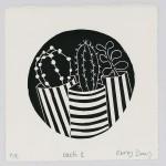 Kerry Day Cacti 2 Lino Print Wychwood Art-48595f96