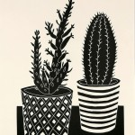 Kerry Day Cacti Lino Print Wychwood Art-4648c1e6