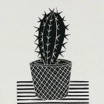 Kerry Day Cactus I Lino Print Wychwood Arts-1e1914a8