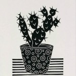 Kerry Day Cactus II Lino Print Wychwood Arts-f546de53