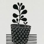 Kerry Day  Money Tree 2 Lino Print Wychwood Art-ba4ccdf1