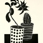 Kerry Day  The Succulent and The Cactus Lino Print Wychwood Art-cc02ff21